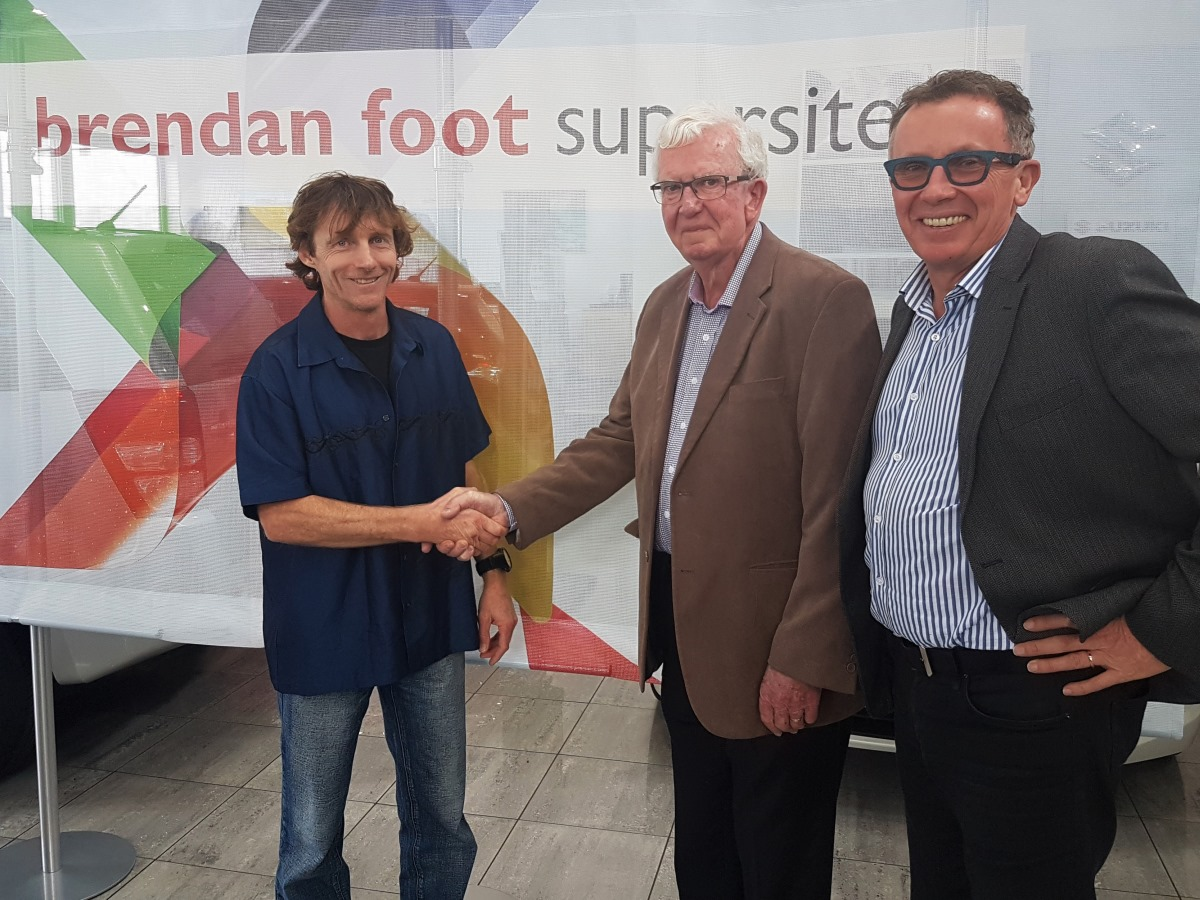 Bruce Mortimer with Brendan and Matthew Foot