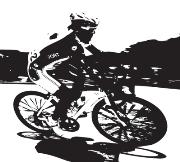 Cycling sillouhette