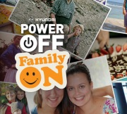 Collage of family photos for the Hyundai Power Off Family On Weekend
