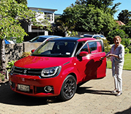 Louisa Tomlinson with her Suzuki Ignis